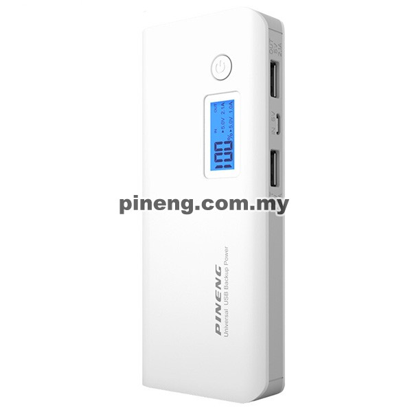PINENG PN-968 10000mAh Power Bank - Whit...